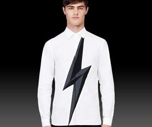 Lightning Bolt Button-Up Shirt