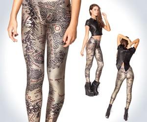 Middle Earth Map Leggings