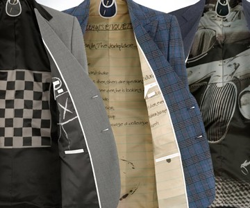 Personalized Suit Lining