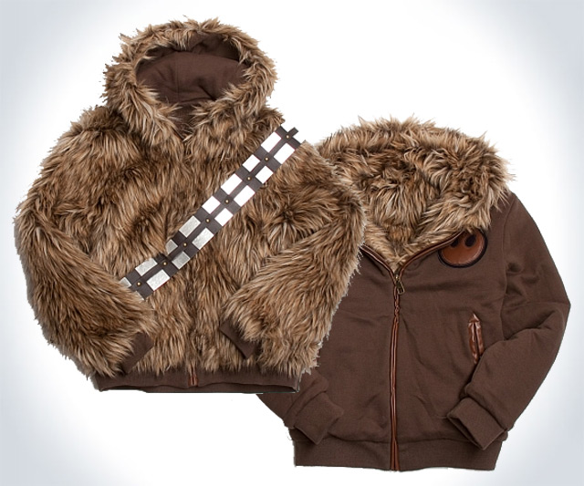 Reversible Chewbacca Hoodie DudeIWantThatcom - Hoodie will turn you into chewbacca from star wars