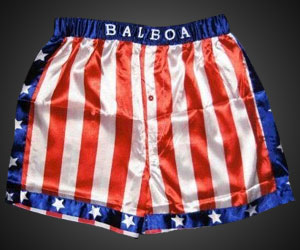 Rocky Balboa American Flag Boxing Shorts Dudeiwantthat Com