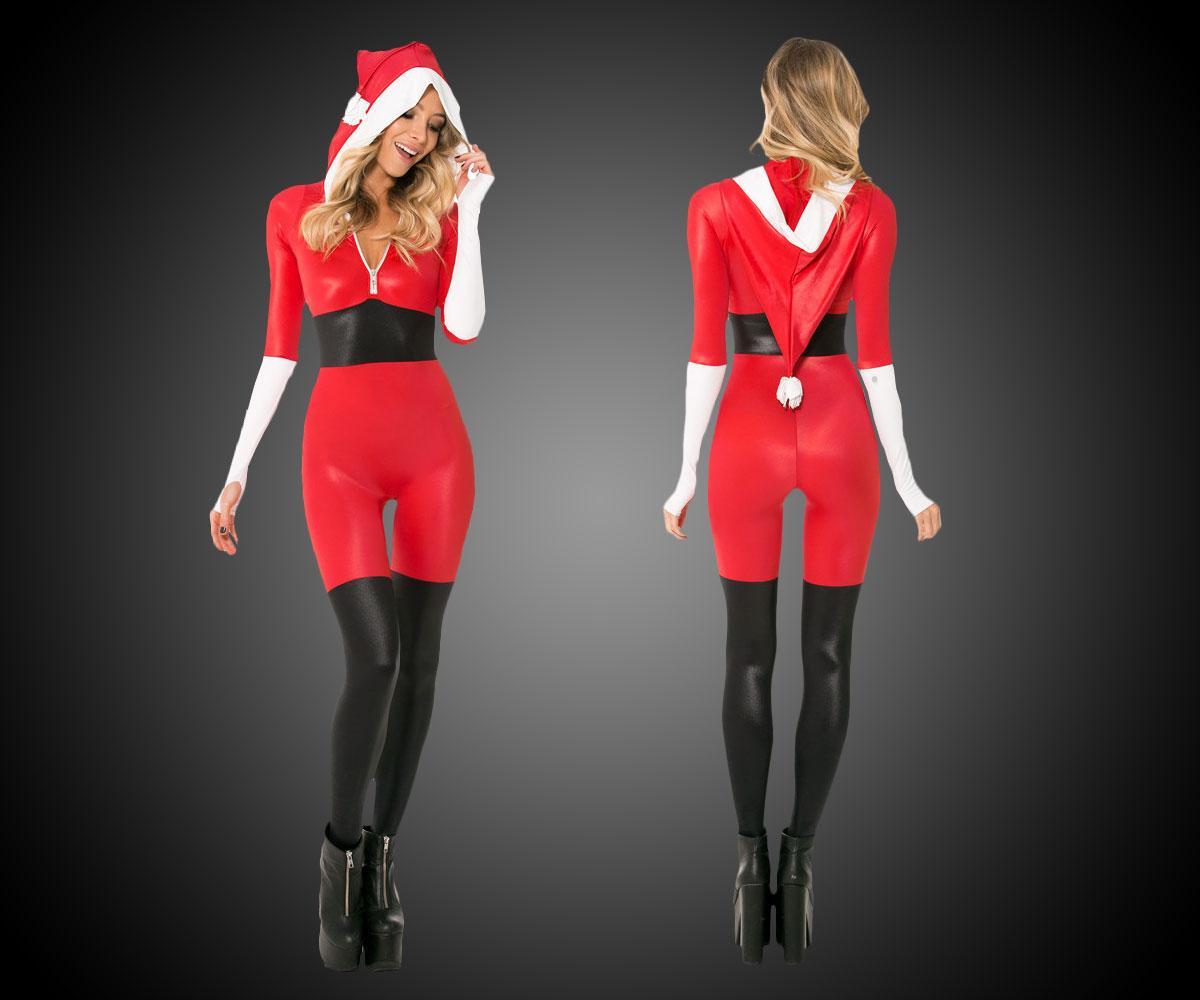 Santa Jumpsuit   DudeIWantThat.com Naughty Santa Claus Costume For Men