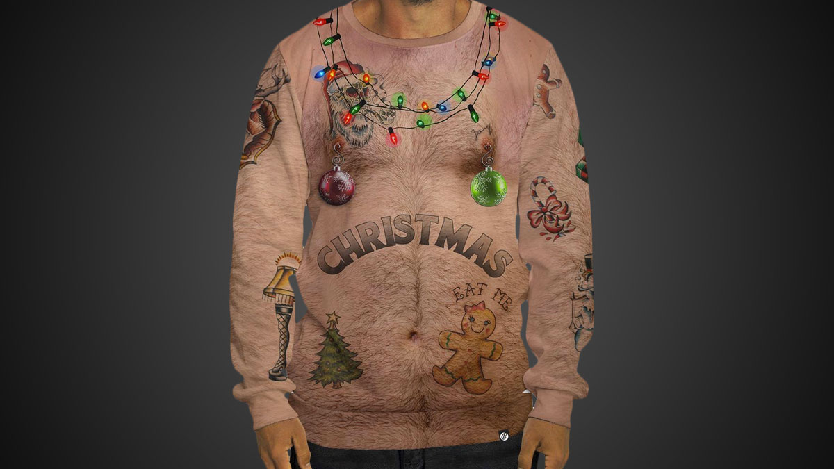 Sexy Chest Christmas Sweatshirt