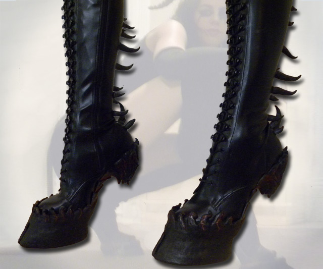 dd61a8c81f Demon Hooves Heel Less Boots | DudeIWantThat.com