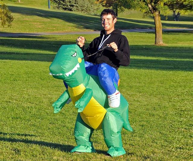Adult costume dinosaur