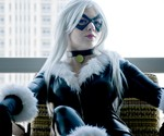 Spandex Black Cat Burglar Costume