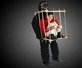 Caged Animal Gorilla Costume