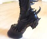 Demon Hooves Heelless Boots - Closeup View