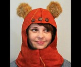 Ewok Costume Hood Closeup
