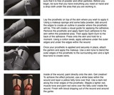 Open Wound Prosthetics and Garters Instructions