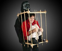 Caged Animal Gorilla Costume