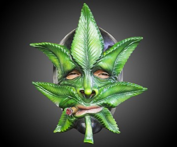 Weed the Marijuana Leaf Mask
