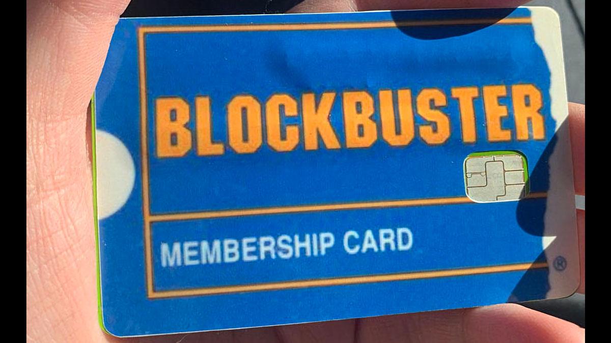 Blockbuster Video Credit Card Skin