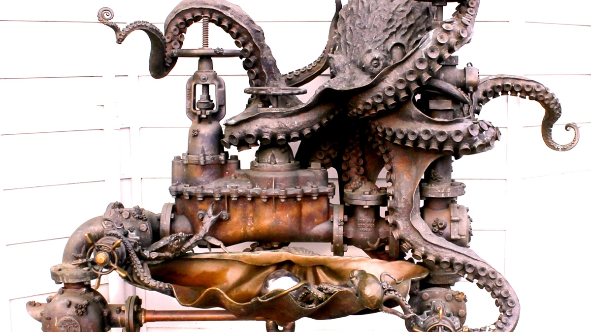 Pearl Diver Octopus Water Fountain