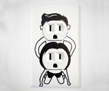Naughty People Outlet Stickers