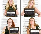 New Year's Resolution Mugshot Cards