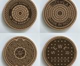 RethinkTANK City Manhole Cover Coasters & Trivets