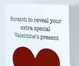 Valentine's Day Surprise Scratch-Off Card