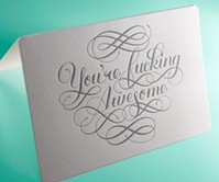 Calligraphuck Profane Greeting Cards
