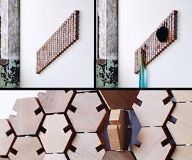 Hanging Geometric Coat Rack