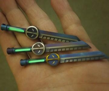 Mini Titanium Katana with Tritium Insert