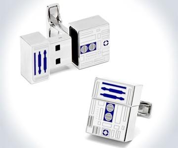 R2D2 Flash Drive Cuff Links