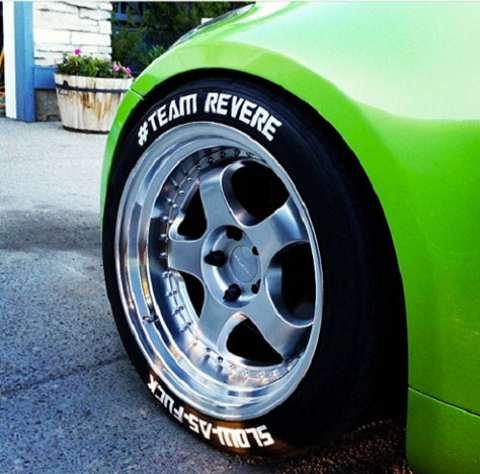 Custom Dodge Charger >> Tire Graficx Custom Tire Decals | DudeIWantThat.com