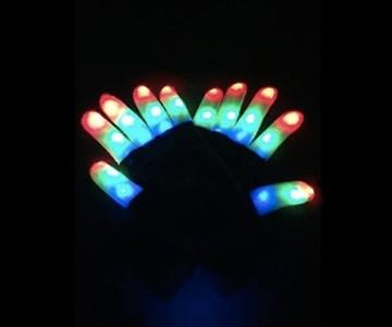 Flashing Finger LED Gloves