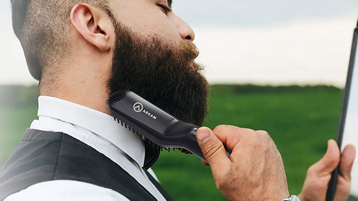 Arkam Ionic Beard Straightener Brush