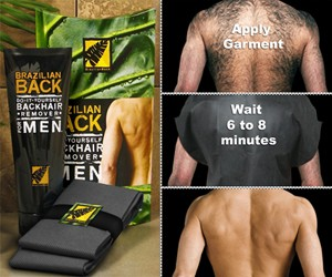 Brazilian Back Male Hair Removal System