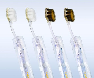 Nano-b Silver, Gold & Charcoal Toothbrushes