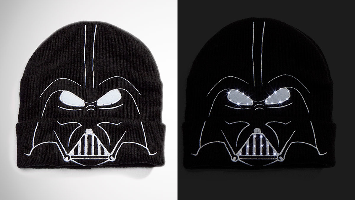 Darth Vader LED Light-Up Beanie