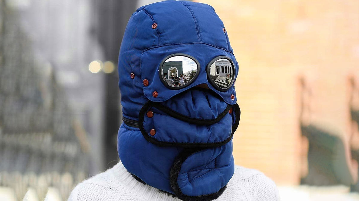 Full Face Trapper Hat with Goggles
