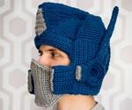 Crocheted Optimus Prime Helmet