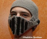 Crocheted Knight's Helmet - Front View
