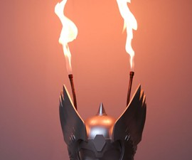 Flaming Thor Helmet
