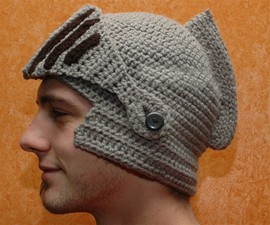 Crocheted Knight Helmet