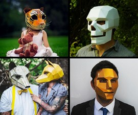 DIY Cardboard Masks