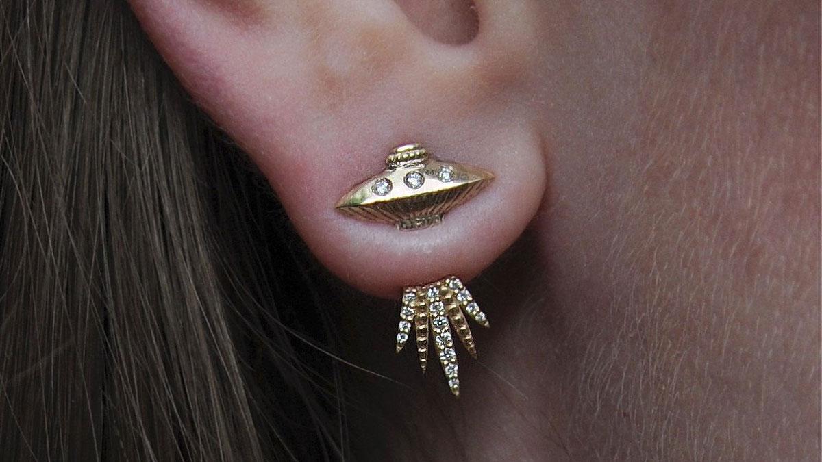 Alien Abduction UFO Earrings