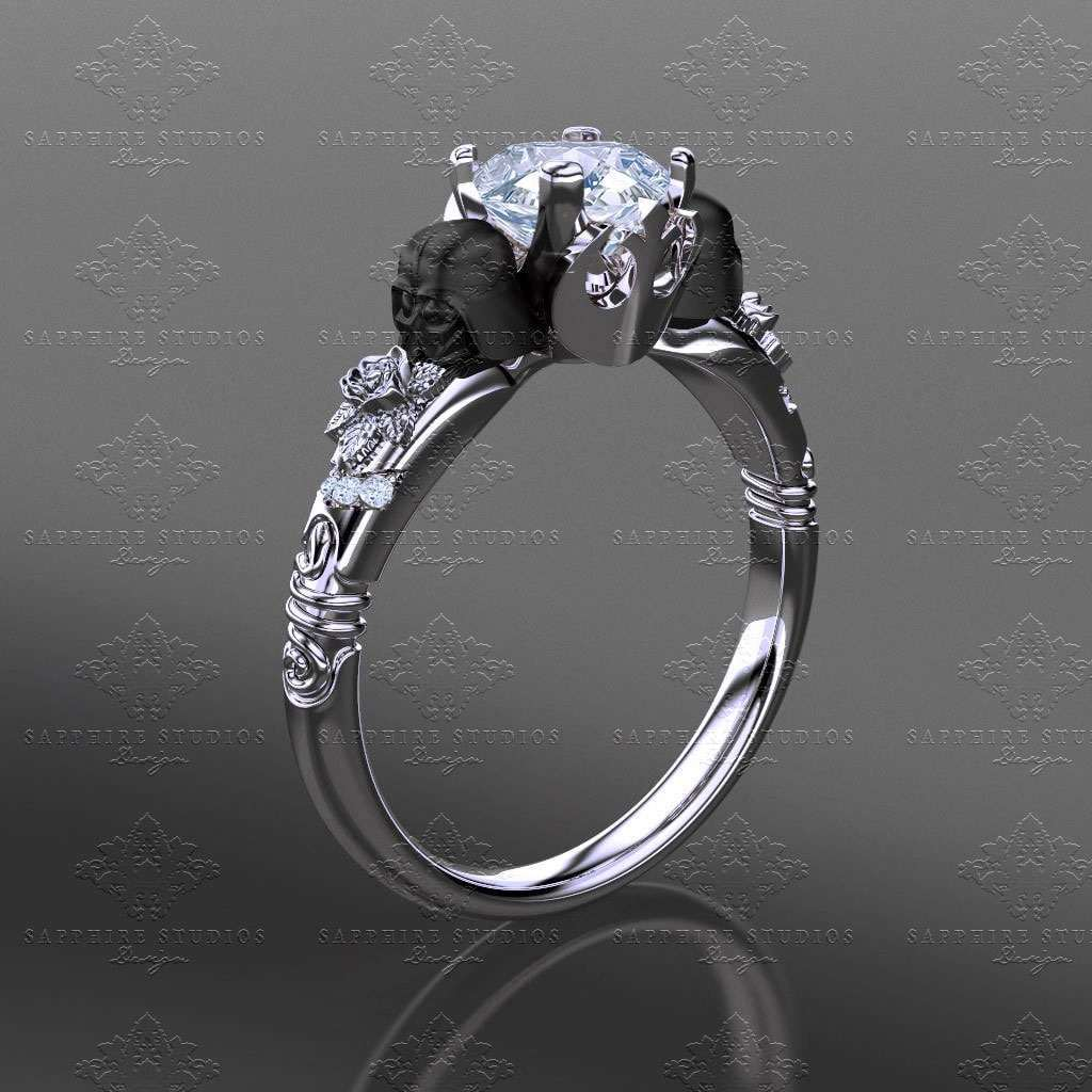 Ornate Band Engagement Rings