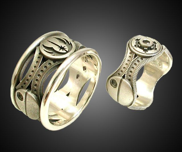 His & Hers Star Wars Rings