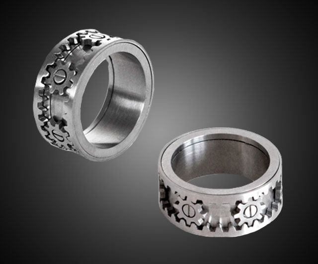 Kinekt Gear Ring Gunmetal