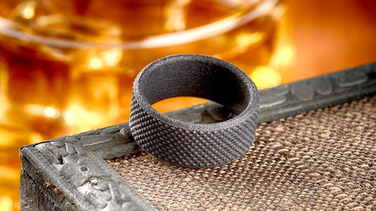 Manly Bands Nylon & Carbon Monomer Wedding Bands