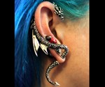 Girl Wearing Dragon Wrap Earring