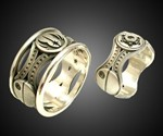 His & Hers Star Wars Rings