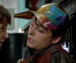Marty McFly Wearing Hat in Back to the Future II