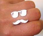 Mr. Mustache with Sunglasses Ring