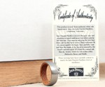 Titanium & Jack Daniels Barrel Ring Certificate of Authenticity