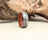 Hand-Wrought Damascus Steel & Wood Rings