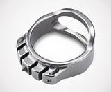 MecArmy Titanium Tactical Ring with Tritium Glow Bars